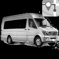Подача автобуса по адресу к месту нахождения тела умершего