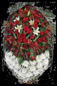 """Венок из живых цветов """"Ричард"""""""